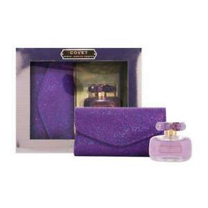 Sarah Jessica Parker Covet PureBloom 100ml EDP Gift Set Women-&Clutch Bag Perfum