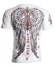 Archaic AFFLICTION Mens T-Shirt BRIGAND Wings Tattoo Fight Biker UFC MMA SM $40