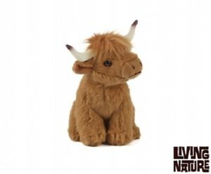 LIVING NATURE SMALL HIGHLAND COW- AN110 SOFT CUDDLY STUFFED PLUSH REALISTIC TOY
