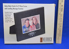 Photo Frame w/ Scrolling Message Function Black Matte Finish 6x4 Melannco NOS
