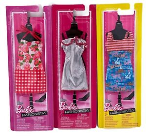 LOT OF 3: 2011 Barbie Fashionistas Outfits NIB