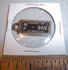 1955 Kansas #862 DAV Mini License Plate keychain Disabled American Vet