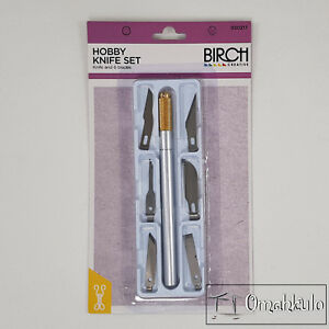 BIRCH - Hobby Knife Set - Knife Handle and 6 Various Blades