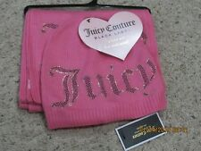 Juicy Couture Womens Beanie Hat Scarf Set Pink