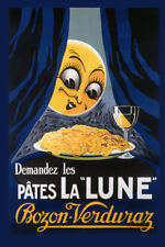 Food Pasta Spaghetti Wine Kitchen French Vintage Poster Repro Free S/H in Usa
