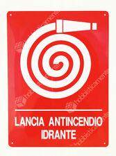 CARTELLO ANTINCENDIO IDRANTE ALLUMINIO CM 23 x 31 SEGNALETICA SICUREZZA SEGNALE