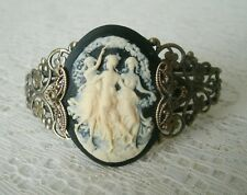 Triple Goddess Cuff Bracelet, wiccan pagan wicca witch witchcraft handfasting