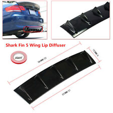 "Shark Fin 5 Wing Lip Diffuser 23""x6"" Rear Bumper Chassis Black ABS Universal"