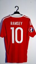 *BNWT* 16/17 Wales Player Issue Shirt (v Belgium) #10 Ramsey Size M