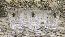 "Waterford Glenmore 9oz. Old Fashioned (3 1/2"") Tumblers, Set of 5, Signed, New"