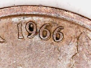 1966 Australia 1c One Cent ** ERRORS - DOUBLING and OFF CENTRE ** #B52