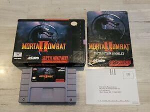 Mortal Kombat II 2 (Nintendo SNES) Complete - Tested - Authentic