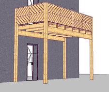 Holzbalkon Vorstellbalkon  Balkonbausatz Anbaubalkon Vorbaubalkon Balkon