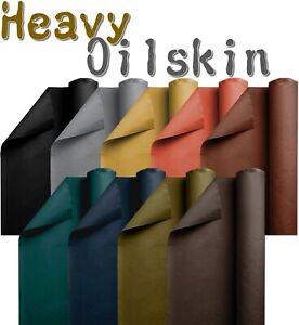 AKTION - Heavy Oilskin Stoff - gewachste Baumwolle Meterware Fester Oilskin