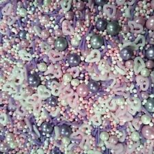 NEW  QUALITY SPRINKLES  PINK PASSION SPRINKLES  FOR CAKES 100g  (1)