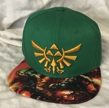 88bfa2a6fd05ec adjustable Snapback ZELDA green hat cap Nintendo game themed cap NWT