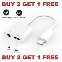 Dual Adapter for iPhone Charger & Headphone 3.5mm Jack for iPhone 7 8 X XR XS