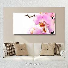 Orchidee rosa zen QUADRO MODERNO QUADRI ARREDAMENTO CASA STAMPA TELA FIORI SPA