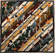 """HERMES SCARF shawl silk Pilotari 90cm 35"""""""