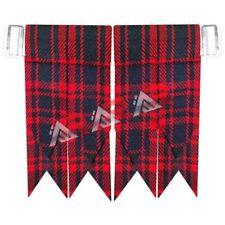 Kilt Flashes Scottish Highland Color M D Tartan With Heavy Buckle New Brand AAR