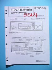 Service Manual Instructions For Kenwood KR-V7080/KR-V8080 ,ORIGINAL