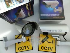 2x Dummy Fake Security Camera CCTV Surveillance Flashing IR LED Indoor Outdoor