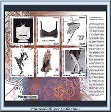 2002 Italia Repubblica Foglietto Design Italiano Moda n. 35 Nuovo Integro **