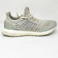Adidas Mens Ultra Boost Parley BB7076 Beige Running Shoes Lace Up Size 6.5