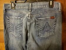 7 FOR ALL MANKIND Buttonfly Relaxed A Pocket Unisex Jeans size 31