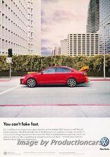 2013 VW Volkswagen Jetta GLI 200hp Original Advertisement Print Art Car Ad J672