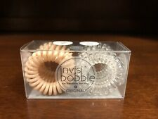 """INVISIBOBBLE Original Duo 6 Pack BNIB """"Crystal Clear""""   """"To Be or Nude To Be"""""""