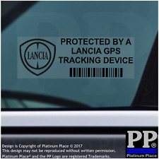 5 x Lancia GPS Tracking Device Security BLACK Stickers-Car Alarm Tracker,Notice