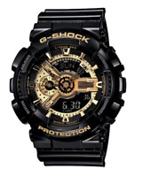 BRAND NEW Casio G Shock GA110GB-1A Analog Digital Black & Gold **FREE SHIPPING**