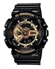 BRAND NEW Casio G Shock GA110GB-1A Analog Digital Black & Gold **FREE SHIPPING**