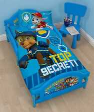 ACTUAL TODDLER BED - Paw Patrol 'Spy' Blue Cot Frame For Baby Kids Boys