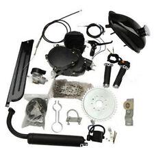 Black 80cc 2 Stroke Cycle Motor Kit Motorized Bike Petrol Gas Bicycle Engine