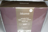 BED BATH&BEYOND Queen Sheet Set PURPLE 400TC Wrinkle free cotton Deep Fitted
