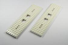 LEGO Ferrocarril Tren Locomotora Placa 6 x 24 Botones Vagón blanco del Set 92340