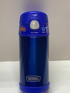Thermos  FUNtainer  12 oz. Vacuum Insulated  Thermos Bottle  Blue