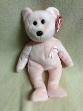 "NWT 2003 Ty 10 Yr Beanie Babies 2003 CURE Pink Ribbon Breast Cancer Bear 9"""