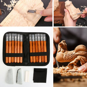 12pcs Woodworking Carving Kit Chisels Wood Working Professional Gouges Carft Set