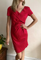 Reiss Shift dress Fitted Berry Lipstick Pink Uk 8 10 Pencil Viva