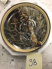 Bradford Exchange Plate Tiger On The Prowl