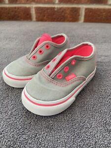 Baby Girls Infant Vans Size 4