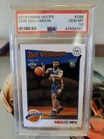 2019 Panini Hoops #296 Zion Williamson Pelicans RC Rookie PSA 10 GEM MINT