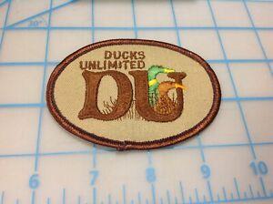 Vintage Ducks Unlimited DU Embroidered Patch