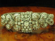 18kt 750 Oro Bianco Bracciale con 9,00ct Brillante Ricoperto/Diamante/59,9g/
