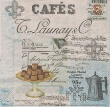 2 Serviettes papier Café Cuisine Decoupage Paper Napkins Coffee Collage