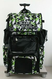 Boombah Rolling Superpack Digital Camo Black Green White MISSING FRONT FLAP