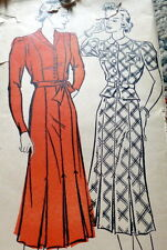 LOVELY VTG 1930s DRESS NEW YORK Sewing Pattern 14/32 FF